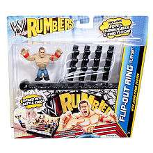 WWE Rumblers Action Figure with Accessory   John Cena with Flip Out
