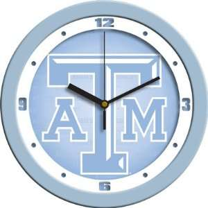 Texas A&M Aggies TAMU NCAA 12In Blue Wall Clock: Sports