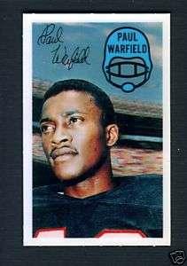 1970 Kelloggs #21 Paul Warfield Miami Dolphins