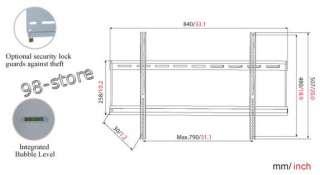 LCD LED WALL MOUNT BRACKET Plasma Flat screen Simple Ultra Slim Style