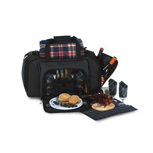 CC Home Furnishings Shoulder Duffel Bag Picnic Set for 4 With Ultimate