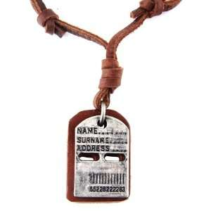 Brown Leather Cord Necklace / Leather Choker / Leather Necklace