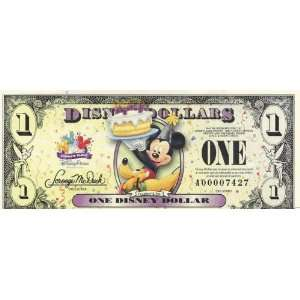 Mickey Disney Dollar $1 Bill(s) 2009 series   (See