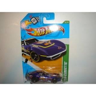 2012 Hot Wheels Treasure Hunt 69 Corvette Blue Violet #55/247