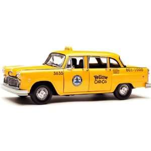 1/18 Scale Sun Star Los Angeles Checker Taxi Cab Toys & Games