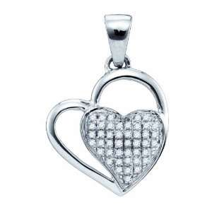 0.11CT Valentine Day Special Diamond MICRO PAVE Heart