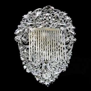 92 Wedding Hair Tiara Comb Clear Swarovski Crystal