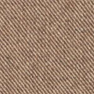60 Wide Wool Blend Coating Stripes Brown/Beige Fabric By