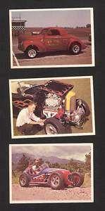 1965 SPEC SHEET HOT ROD MAGAZINE CARDS 43 53 56
