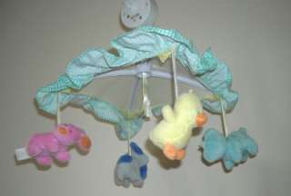 HTF Tykes Carters Animal Puppy Musical Baby Crib Mobile