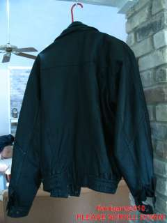 NICE MENS LARGE VINTAGE BLACK LEATHER MOTORCYCLE JACKET
