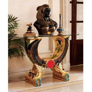 King Tut Messenger Glass Console Hallway Foyer Table: Home & Kitchen