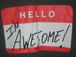 NEW WWE WWF Wrestling The Miz Hello Im Awesome Logo Mens L/S Shirt