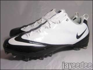 130 NIKE ZOOM VAPOR CARBON FLY TD FOOTBALL CLEATS WHITE/BLACK 396256