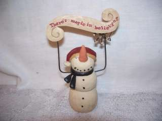 Blossom Bucket Resin Magic Believing Banner Snowman Christmas Tree