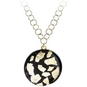 14K White Gold Plated Sterling Silver Italian 18 W/ Black
