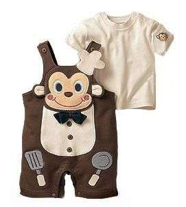 Fashion Infant Baby Boys Money Chef One Pieces Romper / T Shirt 3 24M