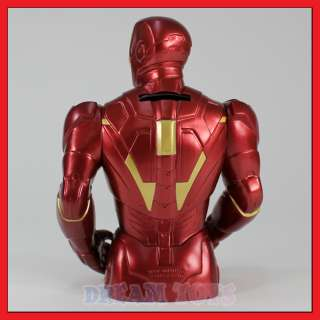 Marvel Iron Man 3D Figure Coin Bank Super Hero Piggy