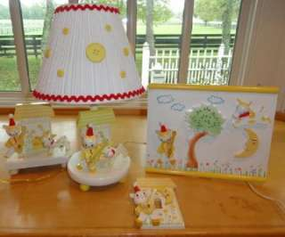 Vtg~IRMI~Nursery~Rhyme~Baby~Kid~Wooden~Lamp~Night Light~Wall Plaque