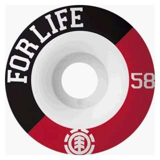 Element Skateboards For Life 58mm Ppp (4 Wheel Pack