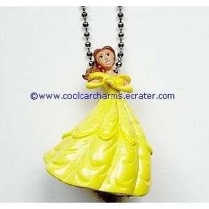 New RARE 3 D PVC Disney Princess Belle Rearview Mirror Charm Ornament