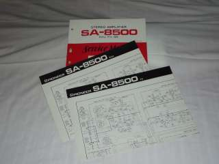 Pioneer SA 850 Stereo Amplifier Original Service Manual & Schematic X