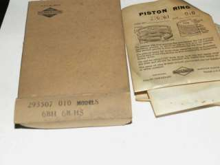 new old Briggs Stratton gas engine piston rings 293507