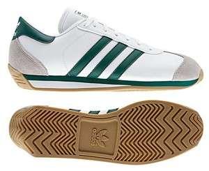 Adidas Originals Mens COUNTRY 2.0 Shoes Retro White Green Cross dragon