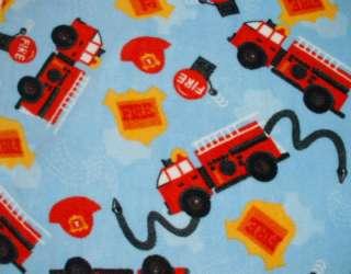 28X45 FIRETRUCK FIREFIGHT FLEECE BABY TODDLER BLANKET