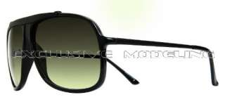 Modeling 80s Style Fashion Vintage Retro Designer Black Sunglasses