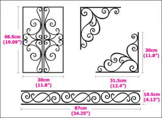 IRON BORDER Vinyl Wall/Window Art Sticker Decal LG 05
