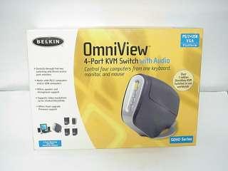 NEW Belkin Omniview 4 port KVM Switch with Audio SOHO series
