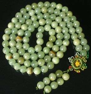 10mm 108 Green Jade Beads Tibetan Buddhist Prayer Mala