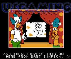 NES Nintendo Game THE SIMPSONS BART VS. THE WORLD 21481105053