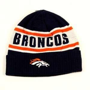 Denver Broncos Big Print Cuffed Knit Hat Sports