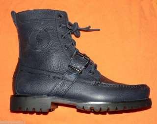 Polo Ralph Lauren Ranger boots Navy Blue mens new