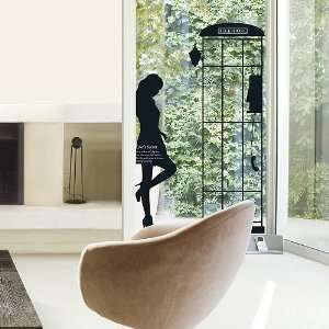 Modern House Parisian Woman Silhoutte Phone booth