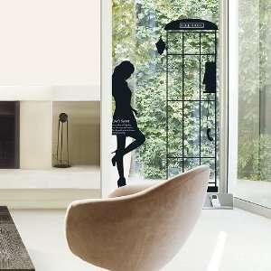 Modern House Parisian Woman Silhoutte Phone booth