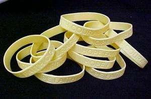 MS Multiple Sclerosis Support Bracelet Cream 12 pc Lot