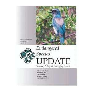 list. An article from Endangered Species Update Joy Gober Books