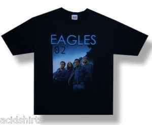 EAGLES BAND 2002 CONCERT T SHIRT NEW S, M BLACK NWT