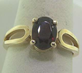Ladies 14k Yellow Gold Garnet Fashion Gemstone Ring 1ct