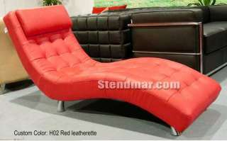 design leatherette or fabric lounge chaise chair custom made photo
