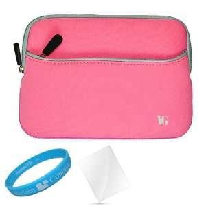 Baby Pink Neoprene Sleeve Carrying Case for  New Nook