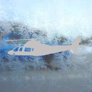 Agusta A109 Helicopter Gray Decal Truck Window Gray