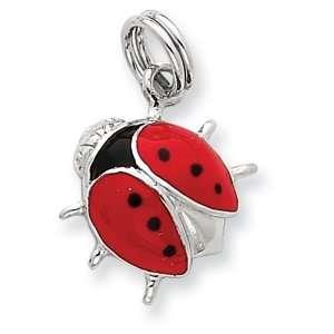 Sterling Silver Enamel Ladybug Charm West Coast Jewelry Jewelry