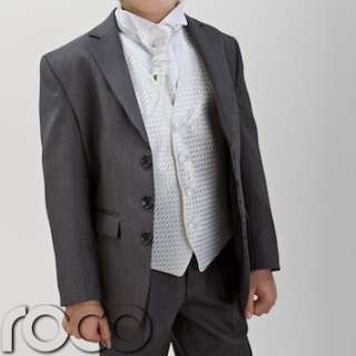 Suits Pageboy Outfits Black White Pinstripe Wedding Prom Suit