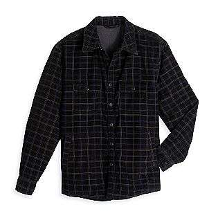 Fleece Lined Corduroy Plaid Shirt Jacket  Covington Clothing Mens