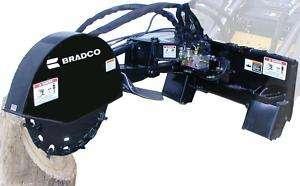 Stump Grinder for Skid Steers,Bradco Grinds 10 x 45