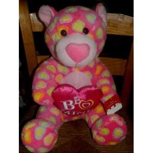 PINK WITH HEARTS I LOVE YOU PLUSH STUFFED TEDDY BEAR Toys & Games